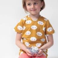 Střih na dětské tričko s krátkým rukávem