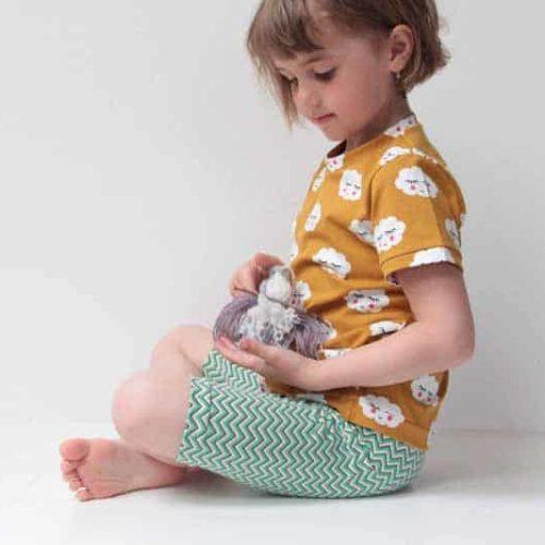 Střih a návod jak ušít dětské legínky nebo kraťasy