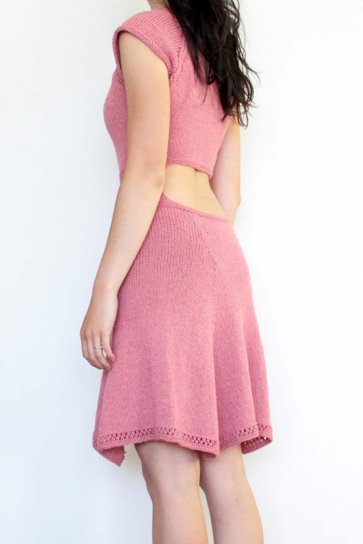 Návod zdarma na dámské pletené šaty