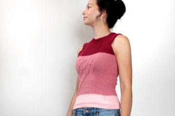 Návod na dámský pletený letní top zdarma