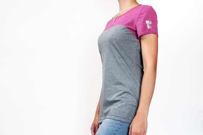 Střih na dámské sportovní tričko