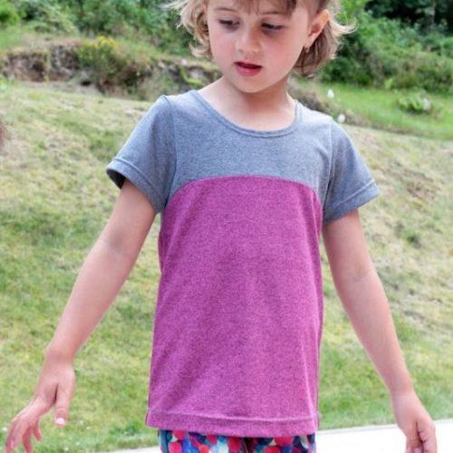 Střih na dětské sportovní tričko