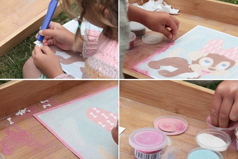 Tvoříme s dětmi - pískování - obrázky a mandaly