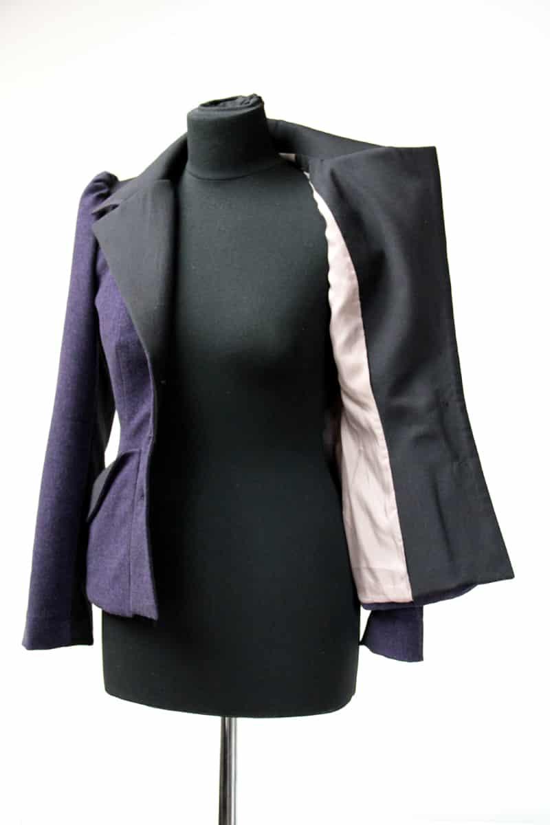 Dámské sako, upravený střih Burda Style 8/2015, model 106