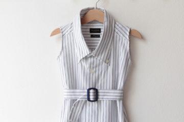 Ze starého nové: dětské šaty z pánské košile