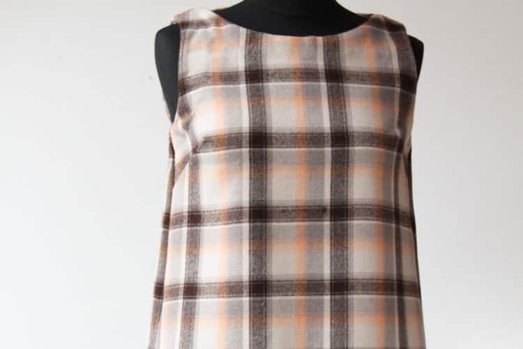 Kostkované šaty z vlněného flanelu
