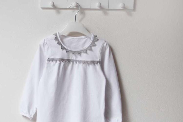Recyklace - ze starého trička nové. Ručně háčkovaná krajka