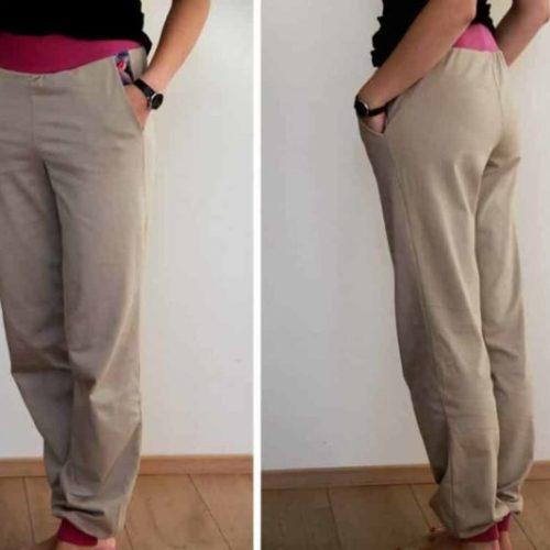 Klínová kapsa na kalhotech