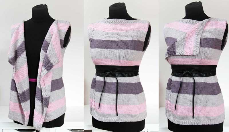 8a356aa37529 Návod na dámskou jednoduchou ručně pletenou vestu